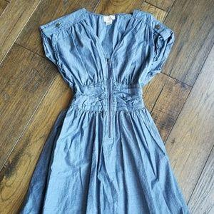 Dresses & Skirts - NWOT Denim front zip up dress.
